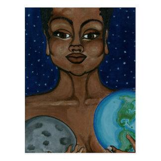 Mutter Erde Postkarte
