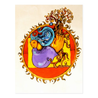 Mutter Erden-Sammlung in der Farbe Postkarte