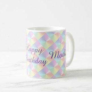 Mutter-Geburtstags-Diamant-Schimmer-Tasse durch Tasse