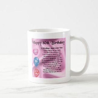 Mutter-Gedicht - 80. Geburtstag Kaffeetasse