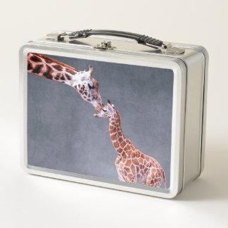 Mutter Getty Bild-  u. Baby-Giraffe Metall Brotdose