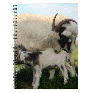 Mutter Goat u. Krankenpflege-Kindergewundenes Notizblock