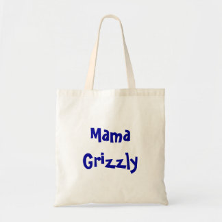 Mutter Grizzly Tote Budget Stoffbeutel