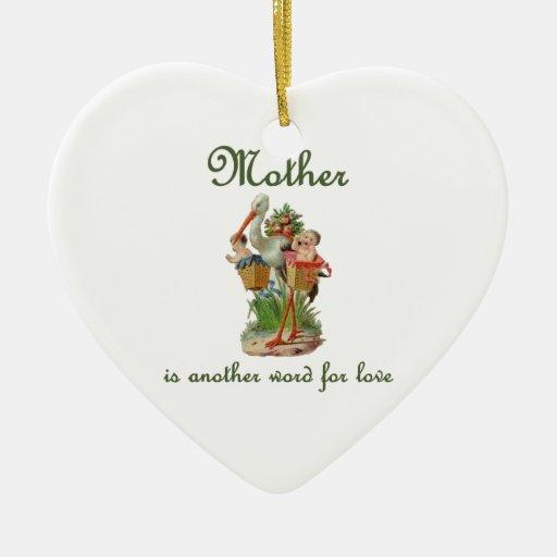 Mutter ist ein anderes Wort fu00fcr Liebe Keramik Herz-Ornament : Zazzle