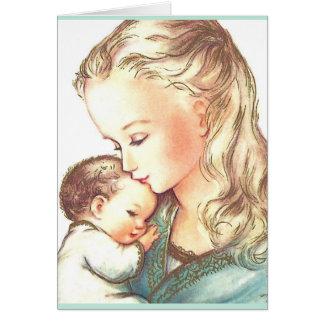 Mutter Mary und Baby Jesus - Karte