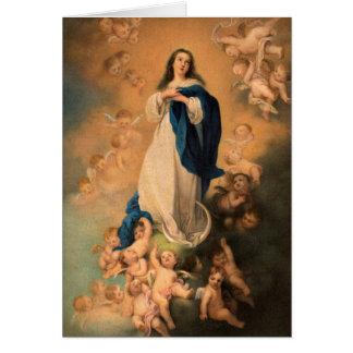 Mutter-Mary-Weihnachtskarte Karte