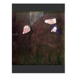 Mutter mit Kindern durch Gustav Klimt Postkarte