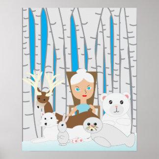Mutter Natur-Winter-Szene Poster