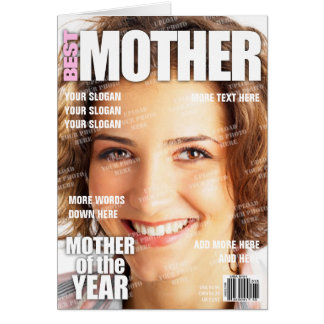 Mutter-personalisiertes Titelseite Karte