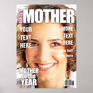 Mutter-personalisiertes Titelseite Poster
