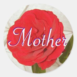 Mutter-Rosen-Aufkleber Runder Aufkleber