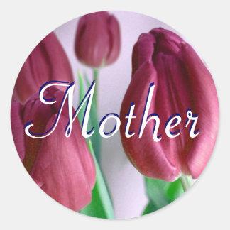 Mutter Rosey Tulpe-Aufkleber Runder Aufkleber
