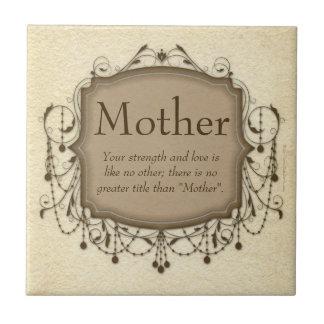 Mutter, sentimentale Mitteilungs-Leuchter-Fliesen-