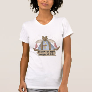 Mütter sind die Engel, die an der grundlegenden T-Shirt