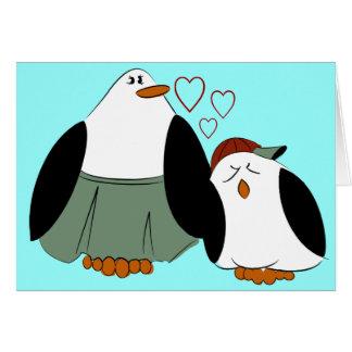 Mutter-Sohn-Pinguin-Geburtstag Karte