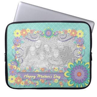 Mutter-Tag - ADDIEREN Sie IHR FOTO - Frühlings-Blu Laptop Sleeve Schutzhüllen