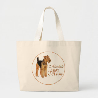 Mutter-Tag Airedales Terrier Jumbo Stoffbeutel