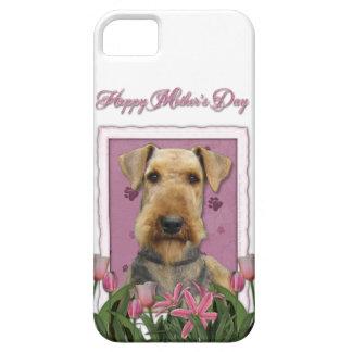 Mutter-Tag - rosa Tulpen - Airedale iPhone 5 Schutzhüllen