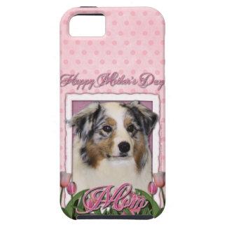 Mutter-Tag - rosa Tulpen - Australien-Schäfer Etui Fürs iPhone 5