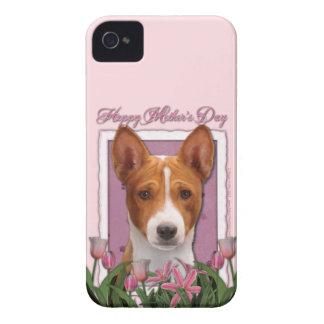 Mutter-Tag - rosa Tulpen - Basenji Case-Mate iPhone 4 Hüllen