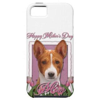 Mutter-Tag - rosa Tulpen - Basenji Tough iPhone 5 Hülle
