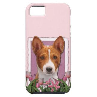 Mutter-Tag - rosa Tulpen - Basenji iPhone 5 Etui