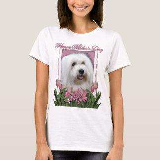 Mutter-Tag - rosa Tulpen - Baumwolle de Tulear T-Shirt