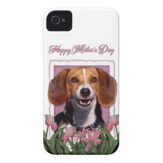 Mutter-Tag - rosa Tulpen - Beagle Case-Mate iPhone 4 Hüllen