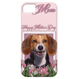 Mutter-Tag - rosa Tulpen - Beagle iPhone 5 Hüllen