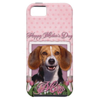 Mutter-Tag - rosa Tulpen - Beagle iPhone 5 Cover