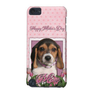 Mutter-Tag - rosa Tulpen - Beagle-Welpe iPod Touch 5G Hülle