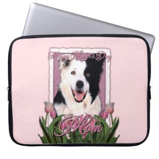 Mutter-Tag - rosa Tulpen - Border-Collie Computer Schutzhüllen