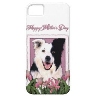 Mutter-Tag - rosa Tulpen - Border-Collie Schutzhülle Fürs iPhone 5