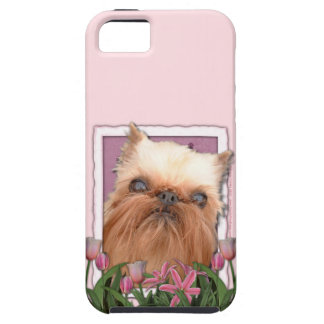 Mutter-Tag - rosa Tulpen - Brüssel Griffon iPhone 5 Case