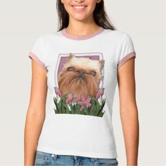Mutter-Tag - rosa Tulpen - Brüssel Griffon T-Shirt