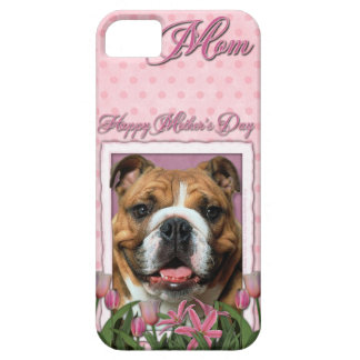 Mutter-Tag - rosa Tulpen - Bulldogge Barely There iPhone 5 Hülle