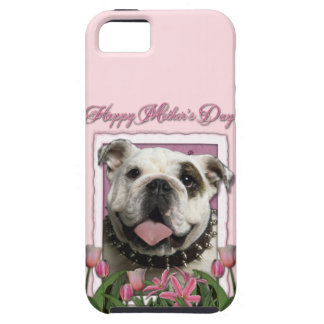 Mutter-Tag - rosa Tulpen - Bulldogge iPhone 5 Case
