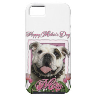 Mutter-Tag - rosa Tulpen - Bulldogge iPhone 5 Cover