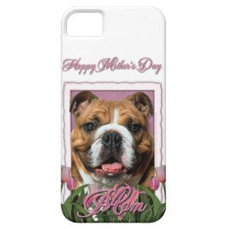 Mutter-Tag - rosa Tulpen - Bulldogge iPhone 5 Etui