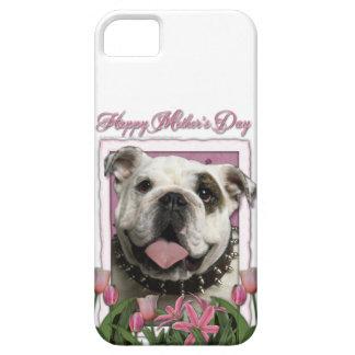 Mutter-Tag - rosa Tulpen - Bulldogge iPhone 5 Hüllen