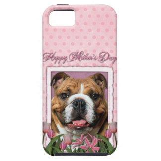 Mutter-Tag - rosa Tulpen - Bulldogge iPhone 5 Schutzhüllen