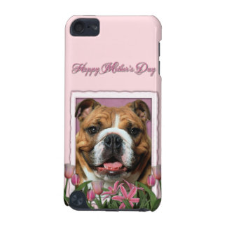 Mutter-Tag - rosa Tulpen - Bulldogge iPod Touch 5G Hülle