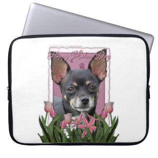 Mutter-Tag - rosa Tulpen - Chihuahua - Isabella Computer Sleeve Schutzhülle