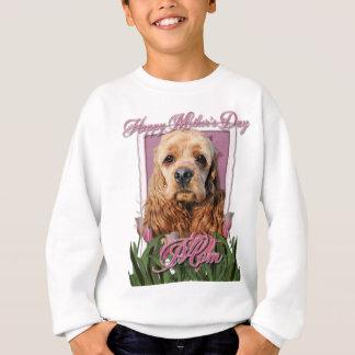 Mutter-Tag - rosa Tulpen - Cocker spaniel Sweatshirt