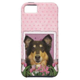 Mutter-Tag - rosa Tulpen - Collie - Caroline iPhone 5 Case
