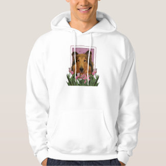Mutter-Tag - rosa Tulpen - Collie - Natalie Hoodie