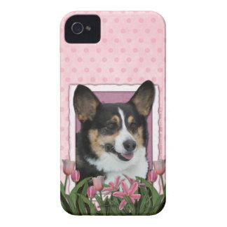 Mutter-Tag - rosa Tulpen - Corgi - Owen iPhone 4 Case-Mate Hüllen