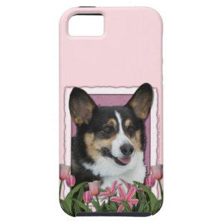 Mutter-Tag - rosa Tulpen - Corgi - Owen iPhone 5 Hüllen