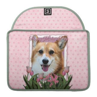 Mutter-Tag - rosa Tulpen - Corgi - Owen Sleeves Für MacBooks