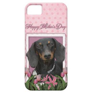 Mutter-Tag - rosa Tulpen - Dackel - Winston iPhone 5 Hüllen